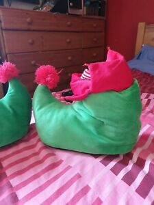 Elf Christmas Slippers comfy green