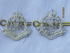 Royal Military Police, Rmp ,Military Officer, Silver Colour, Pair, Eyelets & Pin