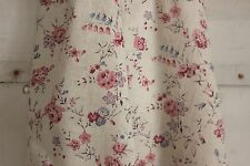 Vintage Fabric French faded floral material pink blue purple cotton shabby chic