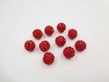 10pc Quality Crystal Rhinestone Beads Disco Ball Shamballa Bracelet Making 12mm