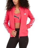 Puma Women's Amplified Logo Full-Zip Track Jacket, Pink, Size M, $55, NwT