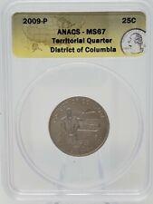 2009 P & D U.S. Territories Quarter Set ANACS MS-67 - COMPLETE SET!!!