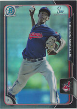 Triston McKenzie 2015 Bowman Chrome Black Refractor Asia Exclusive Indians