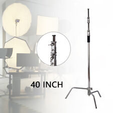 New listing 10ft Fold Double Riser Adjustable Light Stand Heavy Duty Photo Studio
