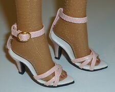 "PINK HIGH HEEL ANKLE STRAP SHOES FOR DOLLS 72mm Fits 22"" American Model Tonner"