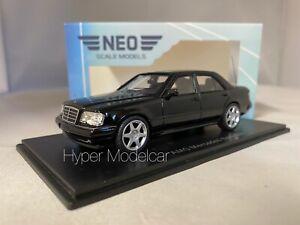 NEO SCALE MODELS 1/43 MERCEDES E60 AMG (W124) 4-DOOR 1995 BLACK ART. NEO45542