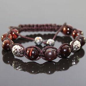 Rot Tiger Augen Eye Herren Shamballa Armband  Armreifen Bracelet für Männer