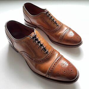 Allen Edmonds Strand 1635 Cap Toe Brogue Oxford Dress Shoes Walnut Mens Sz 11 D