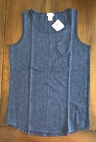 NWT CREWCUTS GIRLS BLUE HEART POCKET TANK SIZE 10 LD5