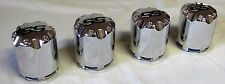 4 Golf Cart Wheel Center Caps SS Chrome Snap-in Style P441SS NEW