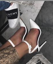 Montanna Anouk Heel **RRP$229**  White Leather ankle strap pointed toe 10/ 41