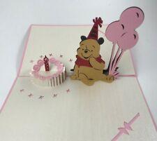 3D Pop Up Bear Balloon Birthday Card Kids Birthday Card