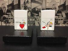 LOT 2 PSC ROMANCE ZIPPO VALENTINE ''LOVE''COLLECTION ZIPPO LIGHTER