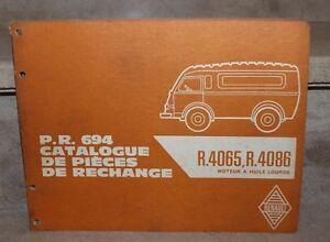 catalogue de pièces de rechange PR694. renault 4065.4086