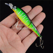 1pc Multi-jointed Minnow Fishing Lure Crank Bait Hooks Bass Crankbait Tackle