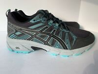 Asics Women's Size 8 W GEL-Venture 7 Gray Teal Lace-up Athletic Running Sneakers
