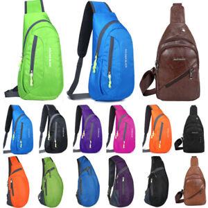 Men Crossbody Chest Bag Hiking Sports Travel Sling Shoulder Backpack Small Packs