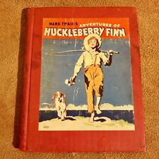Vintage 1940 Mark Twain's Adventures Of Huckleberry Finn Retold In 96 Pages