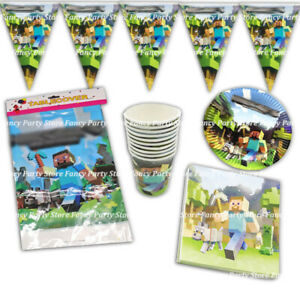 TNT Birthday Party Tableware Plates, Napkins, Cups, Flags Boys Video Game Party
