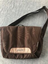 Jansport Messenger Bag Computer Bag Brown Crossbody Commuter Angled Strap