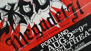Underground Metal💀 EXCITER EXODUS MEGADETH💀 Original '85 Hatch poster Flyer