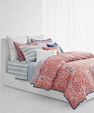 Ralph Lauren Alexis Floral Paisley FULL/QUEEN Duvet Cover Set Daisy Red & Blue