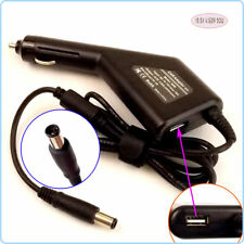 Notebook DC Power Adapter Car Charger +USB for Dell Inspiron M11X M4010 7420