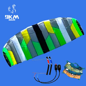 3m² Quad Line Traction Power Kite Paragliding Landboarding Trainer Kiting Adults