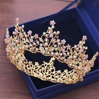 Flower Bridal Wedding Rhinestone Tiara Crown Round Women Hair Headband Party