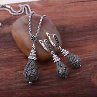 Modeschmuck Damen Kristall Blume Kette Halskette Statement Chunky~Collier L5P6