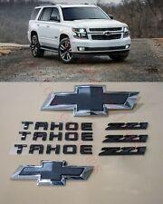 8PCS 2015-2020 Chevrolet Tahoe Suburban Black Bowtie Emblems Front & Rear