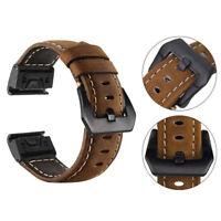 Easy Fit Vintage Genuine Leather Strap Wristband For Garmin Fenix 5 /Fenix 5X