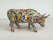 "MOOZAIC Resin COW PARADE Figure WESTLAND 6 1/4"" Long # 9143 Vintage 2002"