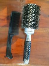 Keratin Ceramic Silk Thermal Hair Styling Brush with Comb