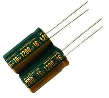 Lot 2x condensateur électrolytique 16V 1200uF - 2x Radial Aluminium Capacitor