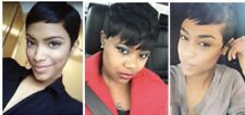 Pixie Cut Short Human Hair Wig African American Lace Front