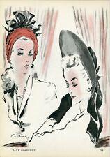 """""""JANE BLANCHOT"""" Annonce originale entoilée PLAIRE 1945 Pierre SIMON"""