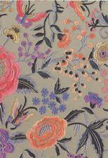 Smita Tapete Missoni M1A10015 Blumen Blüten Stoffoptik gestickt  Vinyltapete