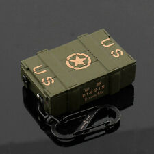 Military Metal Ammunition Box Refillable Butane Gas Flame Cigarette Lighter Gift