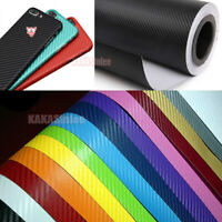 New PVC Decal Stretch 3D Texture Carbon Fiber Vehicle Vinyl Tape Wrap Sticker VL