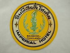 Imperial Hotel Bangkok Thailand Luggage Label