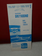 Eastern Greyhound Bus Time Tables June 23, 1966 Chicago Pittsburgh New York Vtg