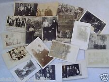 RPPC GROUPS WOMEN MEN KIDS BOYS GIRLS! POSTCARD LOT OF 18! REAL PHOTO AZO,CYKO
