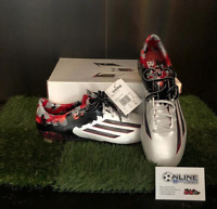 Adidas Messi Pibe De Barr 10.1 FG - White/Granite/Scarlett UK8.5, US9, EU42(2/3)