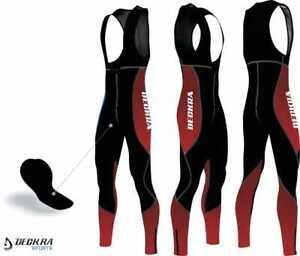 New Cycling Bib Pants Long Bicycle Tights Thermal Cold Wear Padded Sports Tights