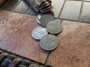 HOARDE OF 189 GEORGE V NICKELS FROM CANADA!
