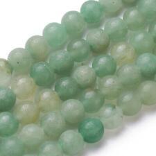 Natural Angelite Piedra redonda granos para joyería haciendo Accesorios Pulsera Hágalo usted mismo