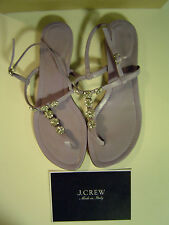 Sandals J.Crew  MADE IN ITALY Jessica Jeweled flat In Lavendar Size 8.5