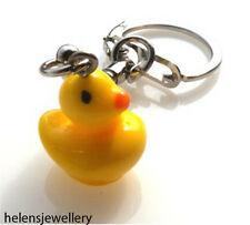 GORGEOUS YELLOW RUBBER DUCK KEYRING + FREE GIFT BAG + FREE FAST P&P