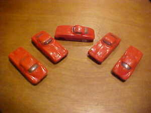 N O S LIONEL HO SLOT CAR,lot of 5  CORVETTE bodys in red only like aurora